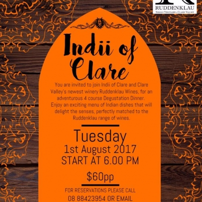 Indii of Clare Degustation Night